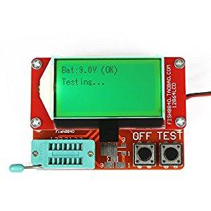 DROK ® Multifunction Transistor Tester Mega328 NPN/PNP Transistor Checker  Capacitor Resistance FET Inductance Diode ESR Testing Function SCR/MOSFET